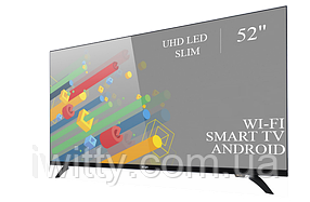 "Телевизор Ерго Ergo 52"" Smart-TV/DVB-T2/USB (1920×1080) Android 7.0 Адаптивный 4К/UHD, фото 2"