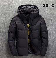 Чоловіча зимова куртка пуховик JEEP в наявності! (BRG_01), чорний / РОЗМІР 48-50, фото 1