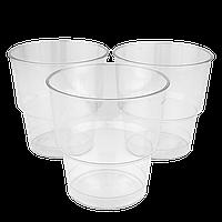 Стакан стеклоподобный Прозрачный 200мл (1уп/25шт/1ящ/36уп), фото 1