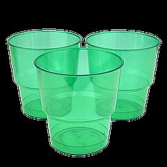 Стакан стеклоподобный Зеленый 200мл (1уп/25шт/1ящ/36уп)