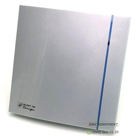 Вентилятор Soler&Palau Silent-100 CHZ Silver Design 3C с гигростатом и таймером