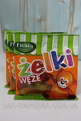 Желейні цукерки Zelki черв'ячки 80 г