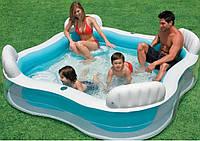 Бассейн надувной Intex для всей семьи (229*229*56 см)