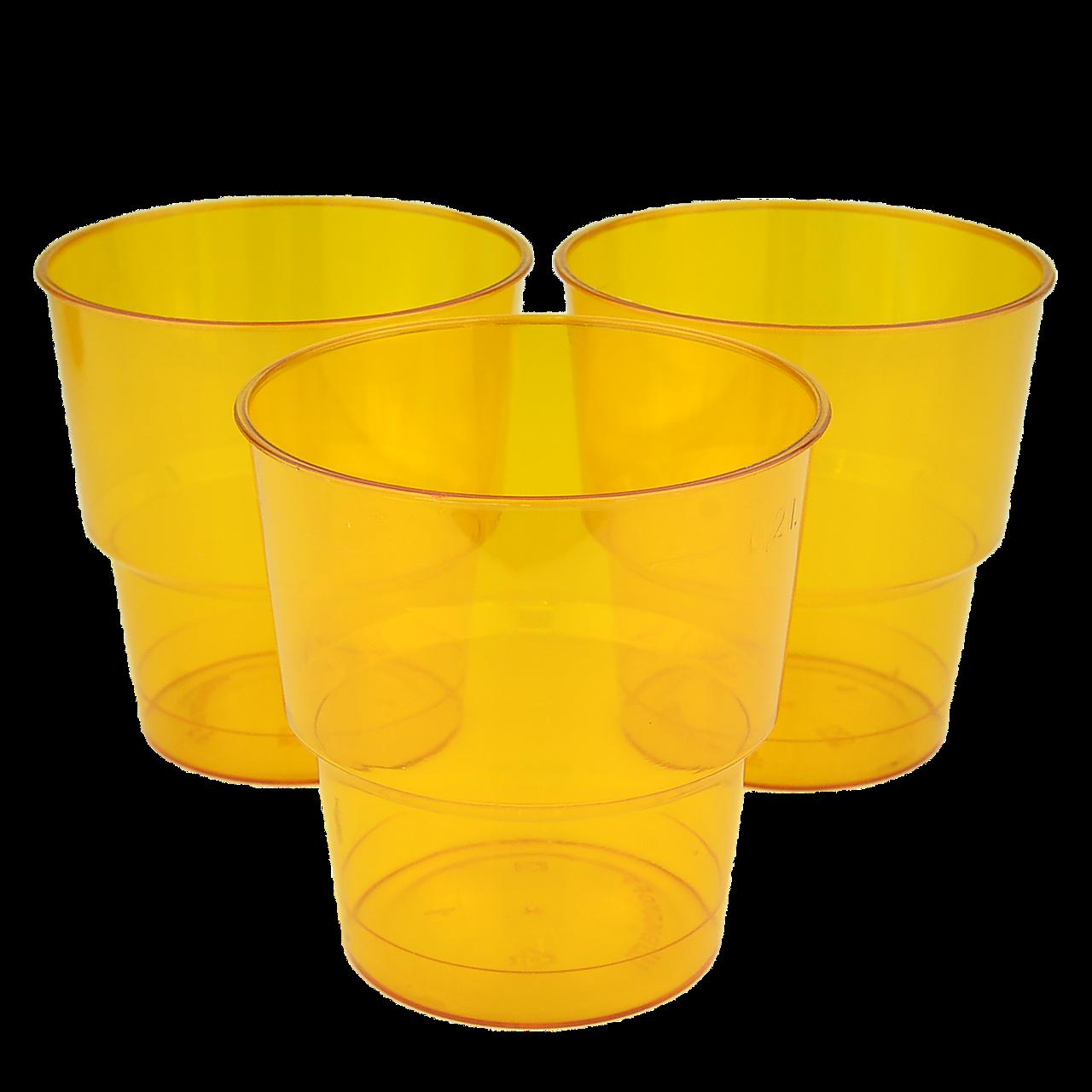 Стакан стеклоподобный Оранжевый 200мл (1уп/25шт/1ящ/36уп)