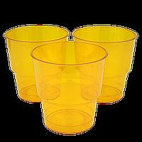 Стакан стеклоподобный Оранжевый 200мл (1уп/25шт/1ящ/36уп), фото 1
