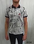 Мужская футболка Поло, MSY. 11232-8334(grey). Размеры: M,L,XL,XXL., фото 3