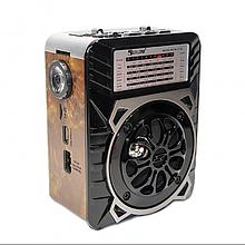 Радиоприемник колонка GOLON RX-9133/9122  аккумуляторный с фонариком