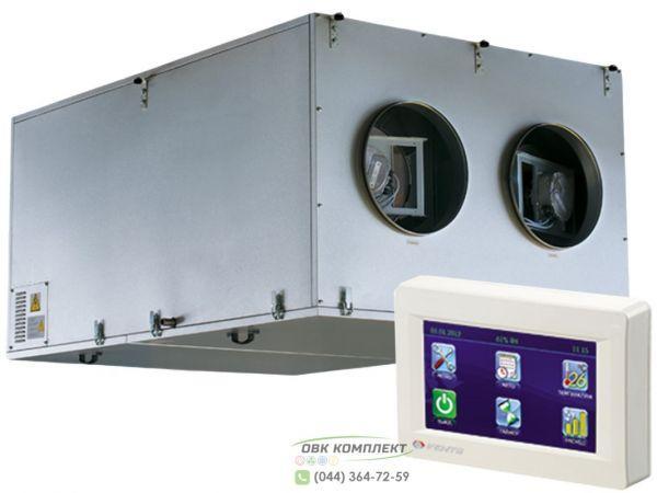 ВЕНТС ВУТ 3000 ПЭ ЕС - приточно-вытяжная установка с рекуператором Пульт с цветным сенсорным ЖК дисплеем