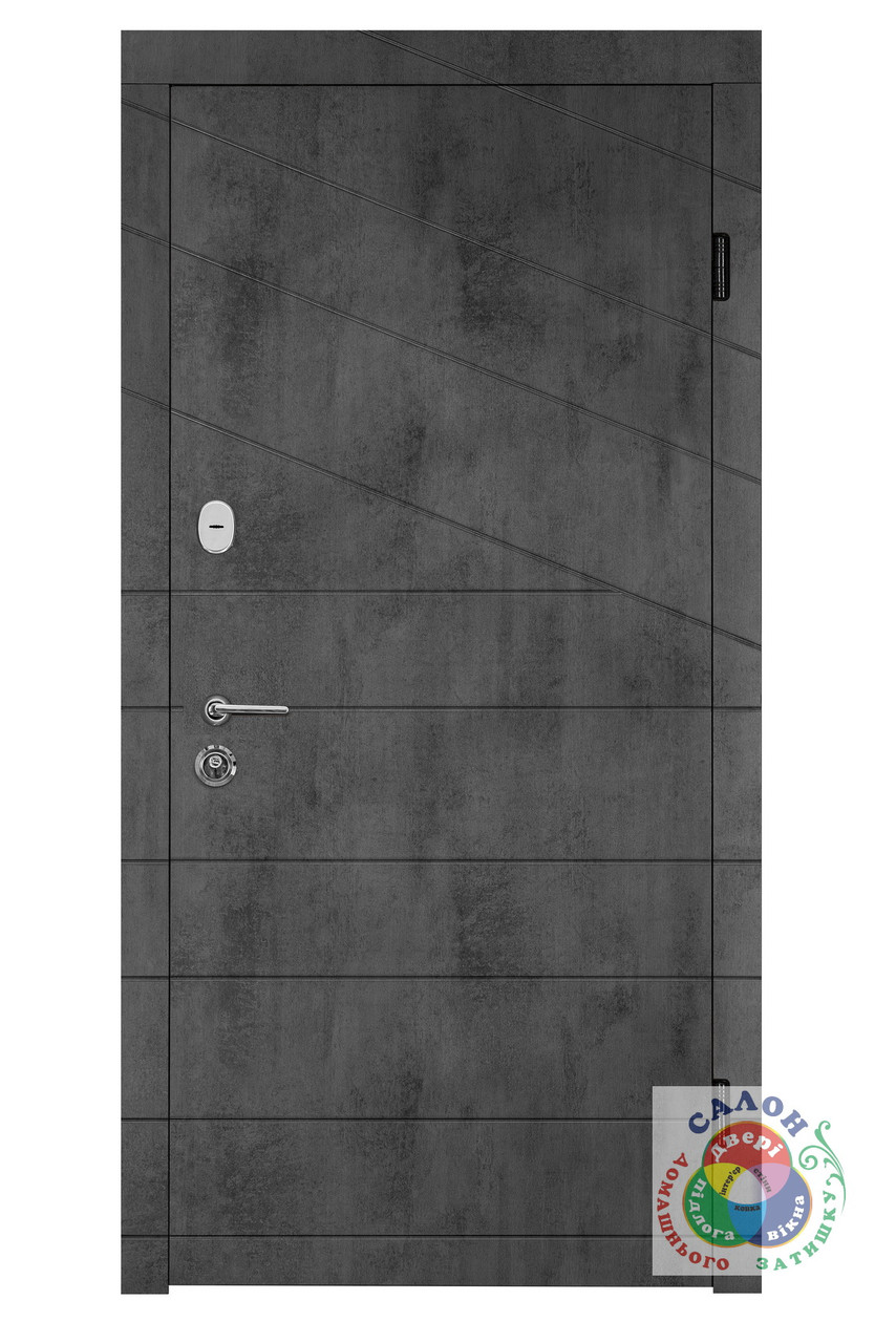 Двері вхідні на вулицю Портала Діагональ 2, серія Тріо