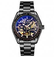Часы наручные механические Skmei 9194 скелетон black черные