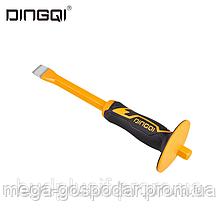Зубило плоское DINGQI - 300х16 мм, с защитой