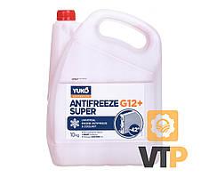 Рідина охолоджуюча YUKO Antifreeze -40 (Super G12+ червоний) 10кг каністра 9л ПЕ