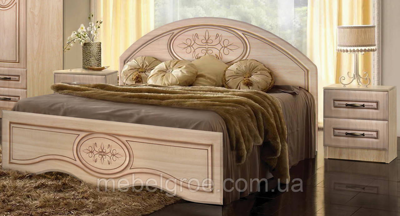 Двуспальная кровать Василиса 160 с низким изножьем и подъемным механизмом тм Мастер Форм