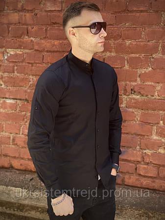 Рубашка мужская однотонная (Чёрная)