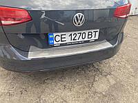 Volkswagen Passat B8 2015↗ гг. Накладка на задний бампер OmsaLine (нерж) SW (универсал), фото 1