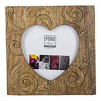 Фоторамка PTMD RAFT photoframe heart wood 665034-PT, Коричневый