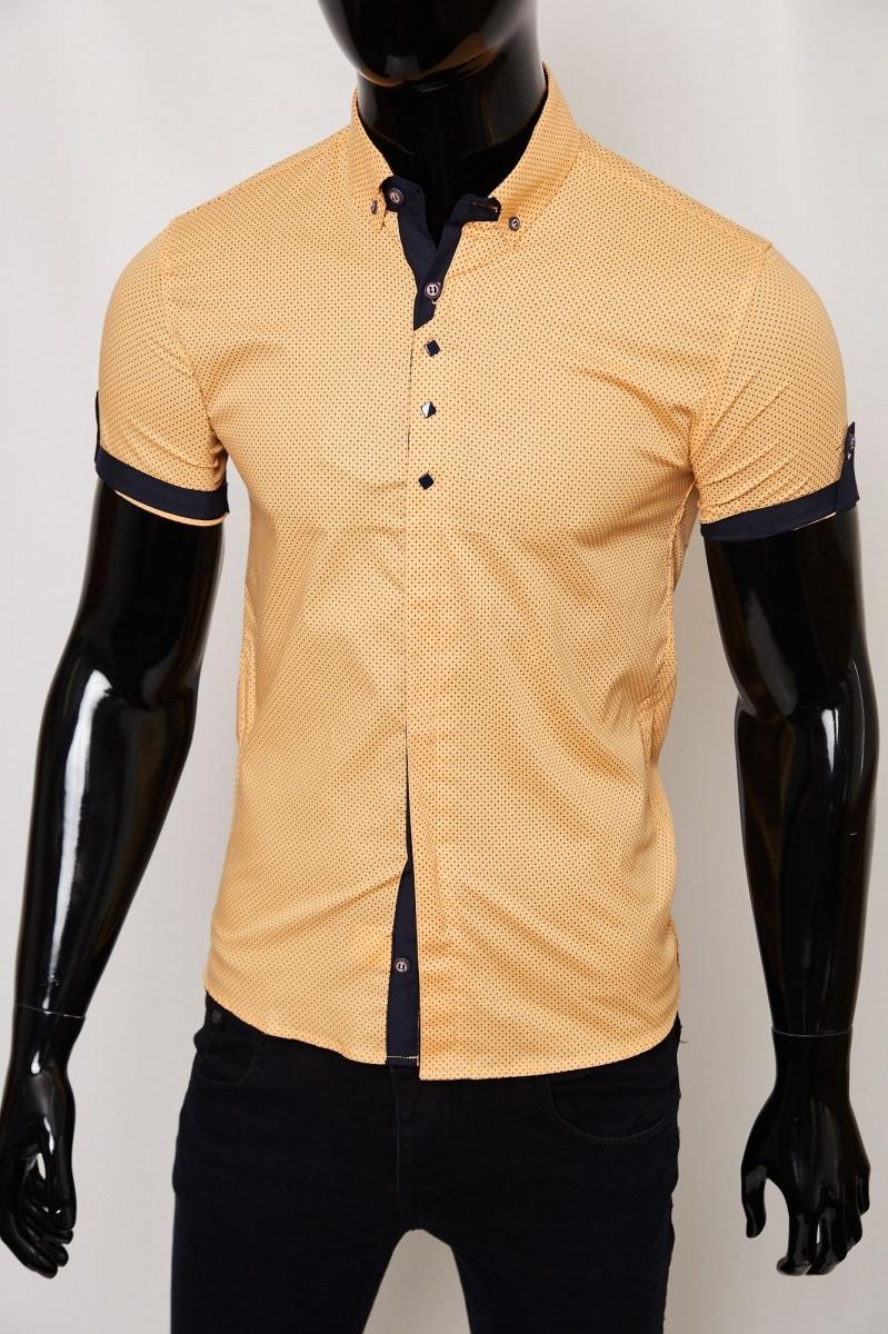 Рубашка короткий рукав 6148 апельсин
