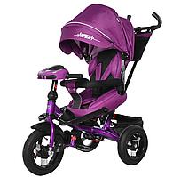 Велосипед трехколесный TILLY Impulse с пультом и усиленной рамой T-386 Фиолетовый