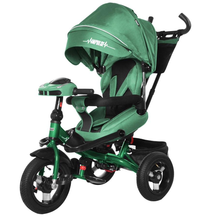 Велосипед трехколесный TILLY Impulse с пультом и усиленной рамой T-386 Зеленый