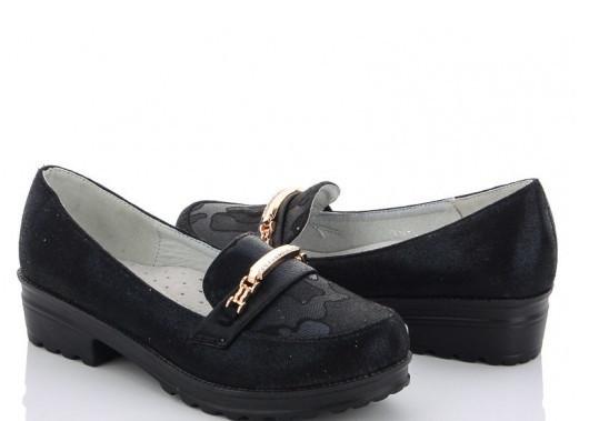 Туфлі підліток чорні туфлі дитячі, шкільні, M. L. V-FA 49-1