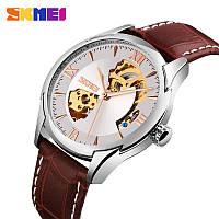 Часы наручные механические Skmei 9223 скелетон silver серебро