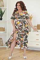 Женское летнее платье на запах, фото 1