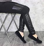 .Женские Мокасины Черные Слипоны (размеры: 36), фото 7