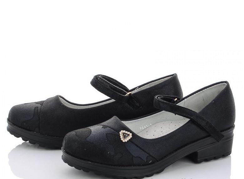 Туфли подросток черные,туфли школьные детские,туфли детские на девочку M.L.V-FA 47-1