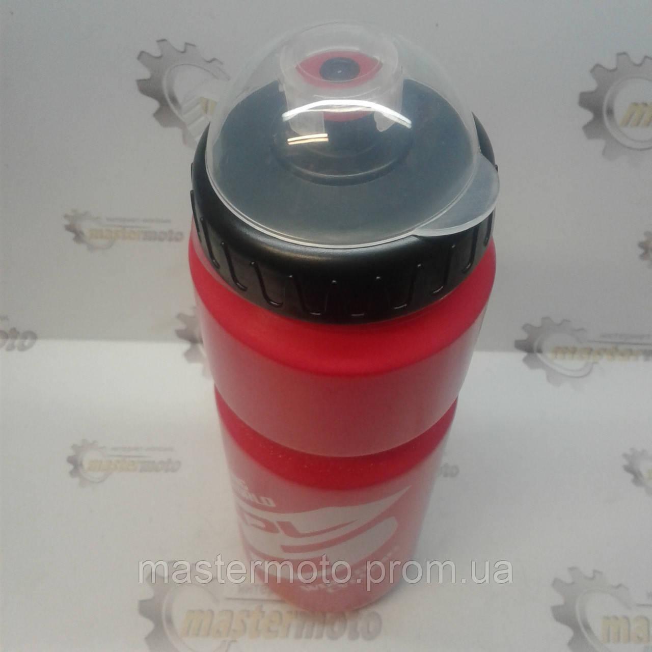 Фляга пластиковая с защитной крышкой, 800мл., красно-белая, SPELLI
