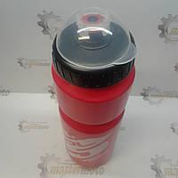 Фляга пластиковая с защитной крышкой, 800мл., красно-белая, SPELLI, фото 1