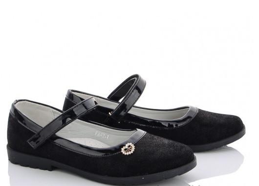 Туфлі підліток чорні туфлі дитячі на дівчинку M. L. V-FA 42-1