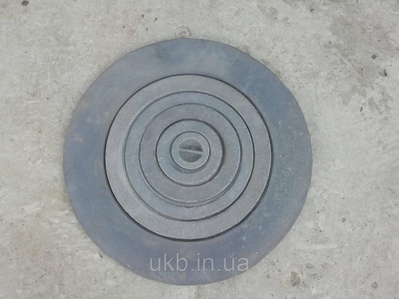 Плита чугунная круглая 600 мм / Плита чавунна кругла 600 мм