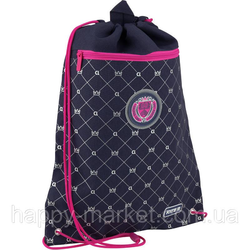 Сумка для обуви с карманом для девочки Kite Education College girl K20-601M-5