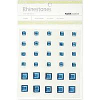 Клеющиеся кристалы Kaiser Self-Adhesive Square Rhinestones 30 шт Blue (SB765)
