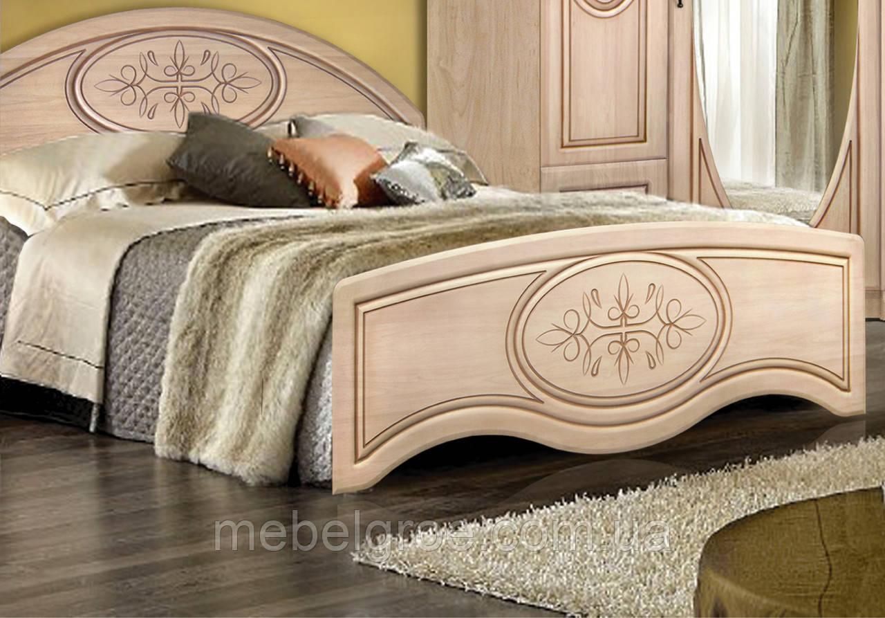 Двуспальная кровать Василиса 160 с высоким изножьем и подъемным механизмом тм Мастер Форм