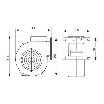 Вентилятор котла KG Elektronik M Plus M Арт. X2 до 40 кВт, фото 2