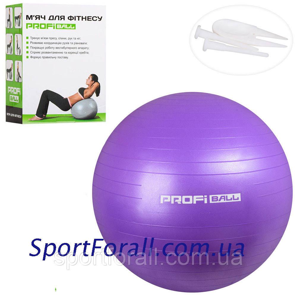 М'яч для фітнесу PROFI BALL (фітбол) 65см MS 1576(фіолетовий)