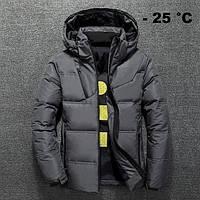Мужская зимняя куртка пуховик JEEP в наличии! (BRG_03), графит / РАЗМЕР 46, 50, фото 1