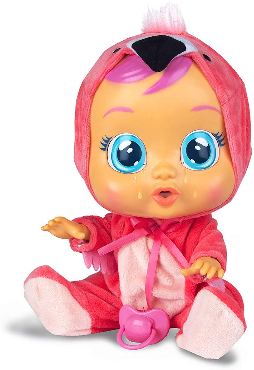 Лялька пупс плакса Cry Babies Fancy The Flamingo Doll Фламінго