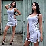 Летнее платье с лампасами в спортивном стиле, фото 2