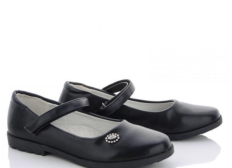 Туфли подросток черные M.L.V-FA 37-1