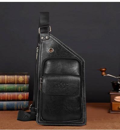 Сумка-рюкзак на одно плечо, кобура, слинг Jeep Buluo. Черная / J 601 black, фото 2