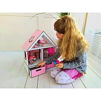 Ляльковий будиночок для LOL LITTLE FUN + шпалери + шторки + меблі + текстиль + BOX Fana
