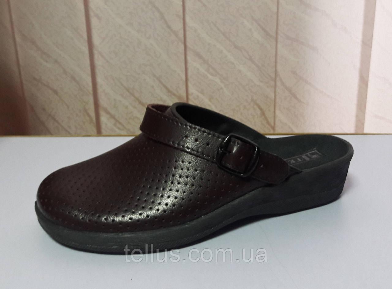 Кожаная женская обувь бордо