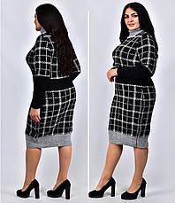 Теплое платье под горло большое коричневое Винтер, фото 3