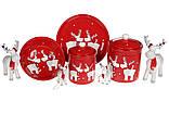 Кружка керамічна Братці олені, 500мл, колір - червоний, фото 2