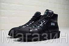 """Женские кроссовки Rick Owens x adidas Mastodon Pro II """"Black"""" (в стиле высокие Адидас Мастодон) черные, фото 2"""