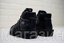 """Женские кроссовки Rick Owens x adidas Mastodon Pro II """"Black"""" (в стиле высокие Адидас Мастодон) черные, фото 3"""