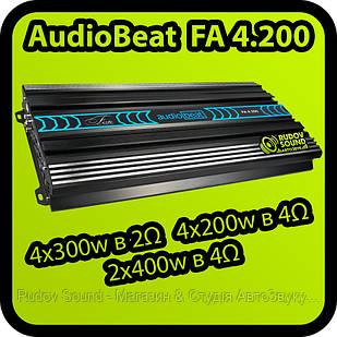 Усилитель AudioBeat FA 4.200 - 4x300w в 2Ω | 4x200w в 4Ω | 2x400w в 4Ω