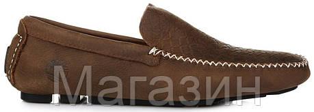 Мужские кожаные мокасины Timberland Twist Moccasin Brown Тимберленд коричневые, фото 2